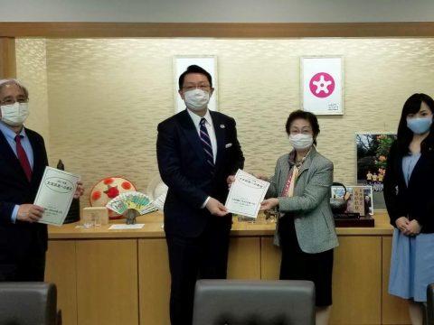 文京区長に要望書を提出しました